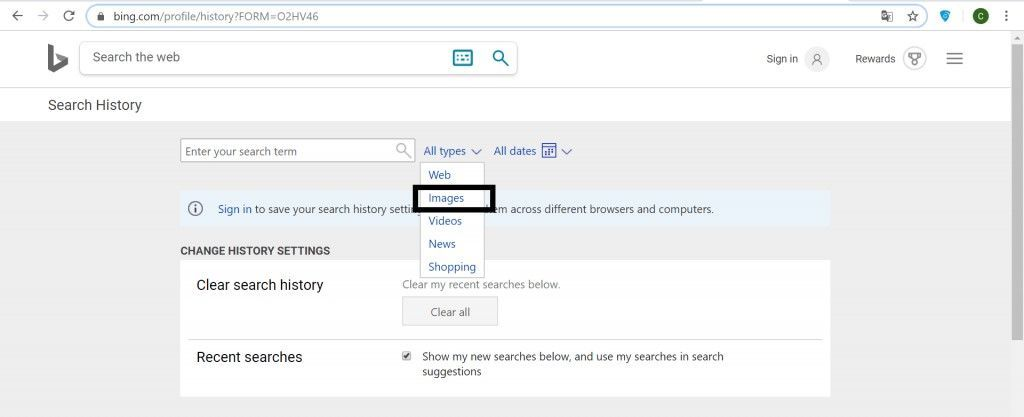 bing images activity